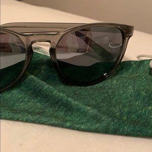 Knockaround grey mirrored sunglasses polarized